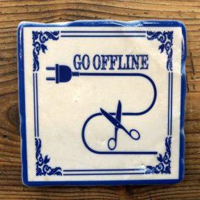 "Henri Banks - Marmorfliese ""GO OFFLINE"""