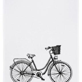 Geschirrtuch_Fahrrad mit Korb