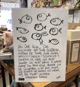 Kunstdruck_Fische Hase Fuchs und Meer2
