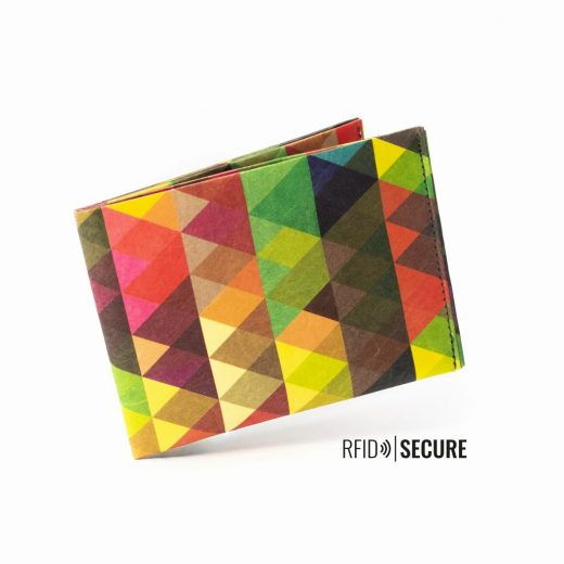 Paprcuts_Wallet_RFID_DreieckeBunt_flying-13