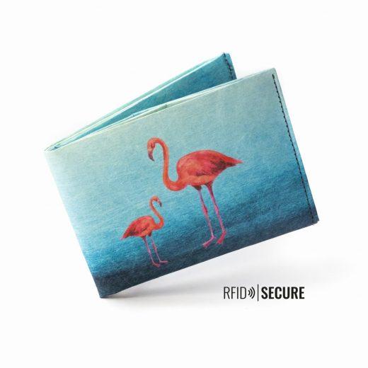 Paprcuts_Wallet_RFID_Flamingo_flying-8