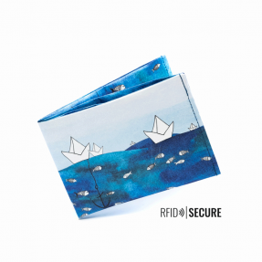 "Paprcuts - Portemonnaie RFID Secure ""Ship ahoi"""