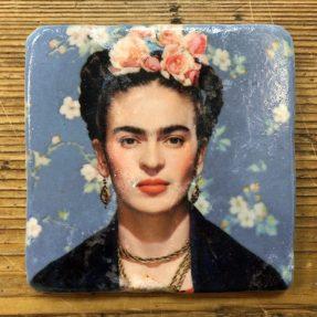 Henri Banks - Marmorfliese Frieda Kahlo-blau