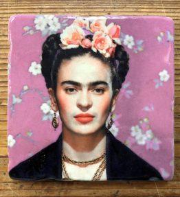 Henri Banks - Marmorfliese Frieda Kahlo-lila