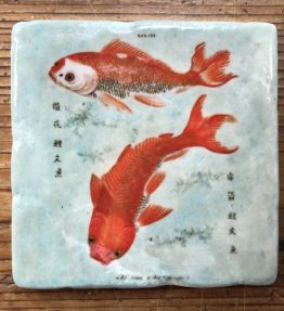 Henri Banks - Marmorfliese Japanische Goldfische