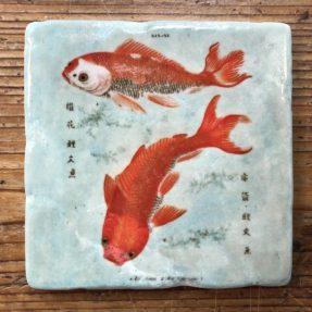 "Henri Banks - Marmorfliese ""Japanische Goldfische"""