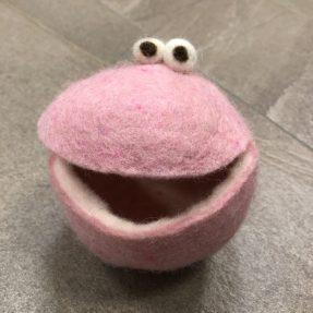 Filz - Quakis mittel/rosa