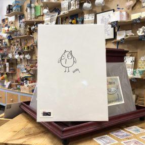 Kunstdruck Eule
