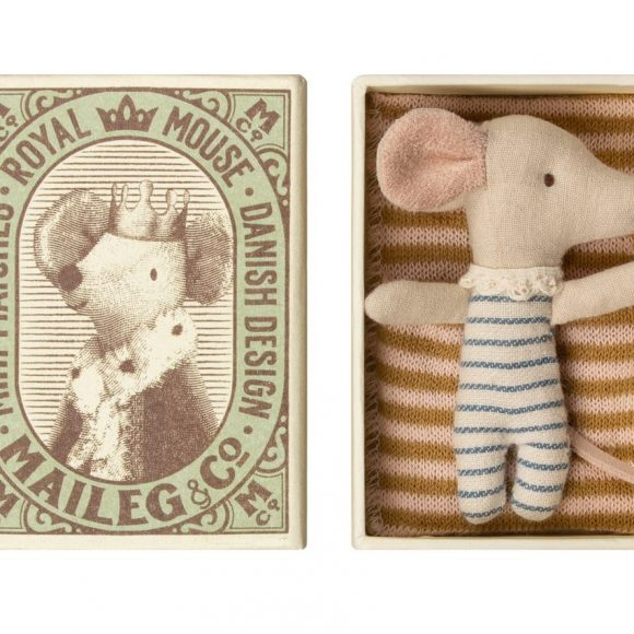maileg - Baby mouse, Sleepy or wakey in box - Boy