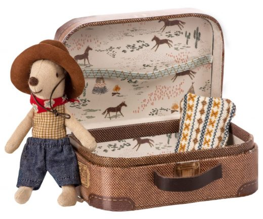 maileg - Cowboy in suitcase, Little brother mouse 01