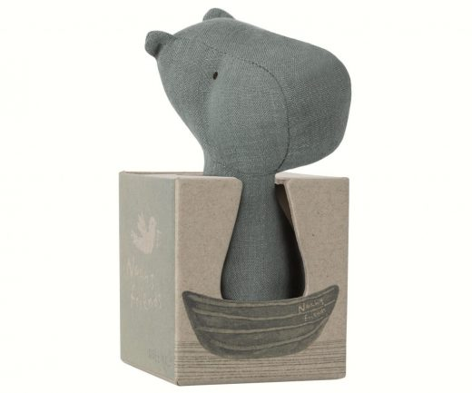 maileg - Noah's Friends, Rhino Rattle 02