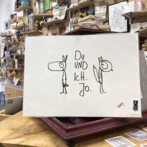 Kunstdruck du und ich