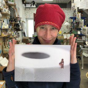"""Jannis Miniaturwelten - """"Klopapier-Lady"""" - großes Bild 300x200mm"""