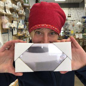 """Jannis Miniaturwelten - """"Klopapier-Lady"""" - kleines Bild 200x100mm"""