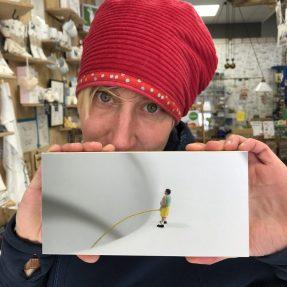"""Jannis Miniaturwelten - """"Stehpinkler"""" - kleines Bild 200x100mm"""