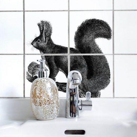 boubouki - Fliesenaufkleber - Eichhörnchen - Cip n' dale - 4er Set