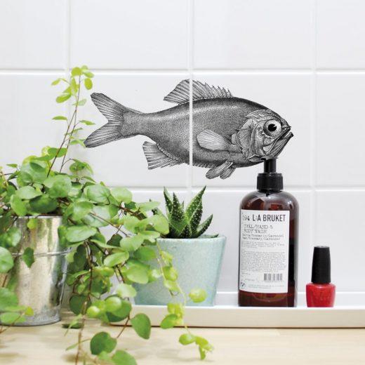 boubouki - Fliesenaufkleber - Fisch Fred - 2er Set