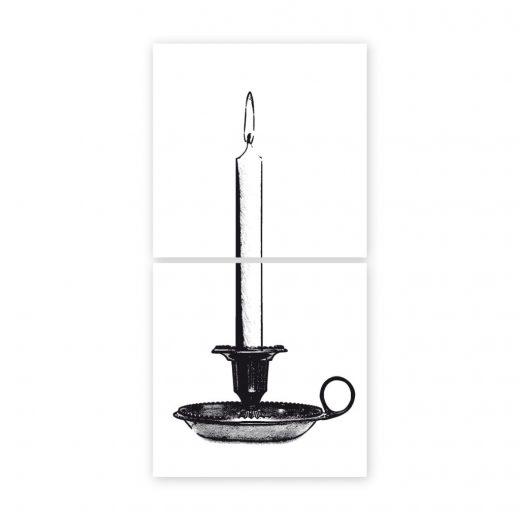 boubouki - Fliesenaufkleber Lumiere Kerze 2er Set