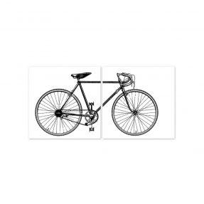 """boubouki - Fliesenaufkleber """"Velo Bike"""" 2er Set - 15cmx15cm"""
