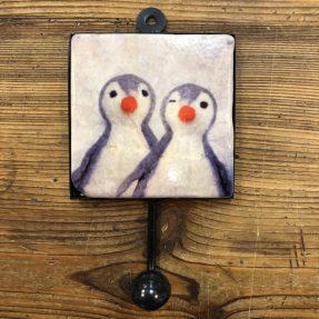 "Henri Banks - Garderobenhaken ""2 Pinguine"""