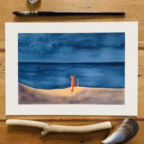 Nadine-Roeder-Illustration-Surfing-Animals-Club-Watching-the-stars