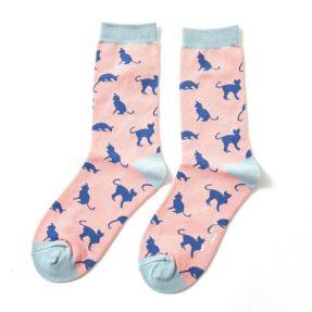 """Damen-Socken - Bamboo """"Cats pink"""", Größe: 36 - 41"""