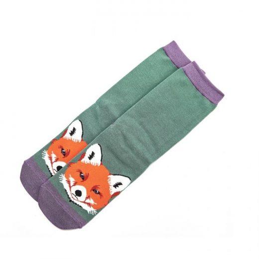 miss-sparrow-socken-bamboo-fox-face-green