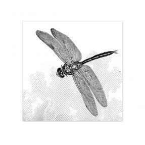 """boubouki - Fliesenaufkleber """"Libelle"""" 2er Set - 15cmx15cm"""