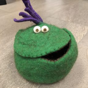 Filz - Quakis groß/grün