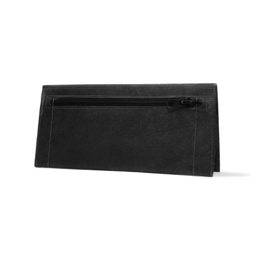 PPC_Clutch_Wallet_JustBlackGold_standing_back_