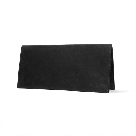 PPC_Clutch_Wallet_JustBlackGold_standing_front _