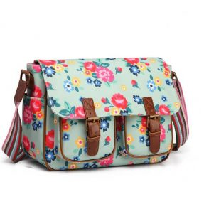 "Blossify - Handtasche - Saddle Bag ""Modern Flower duck egg"""