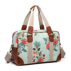 "Blossify - Handtasche - Travel Bag ""Botanical duck egg"""