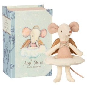 """Maileg - """"Angel mouse"""" Big sister in book"""