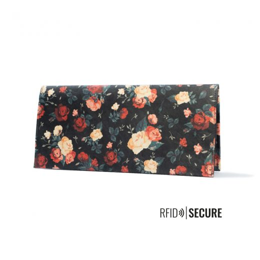PPC_Clutch_Wallet_Flowers_standing_front_logo
