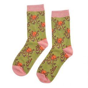 """Damen-Socken - Bamboo """"Octopus, moss"""", Größe: 36 - 41"""