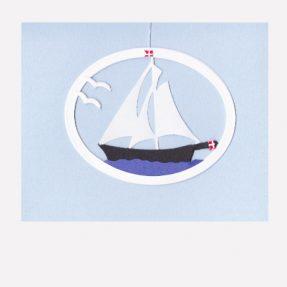 """Oda Wiedbrecht - Fensterbild """"kleines Segelschiff"""""""