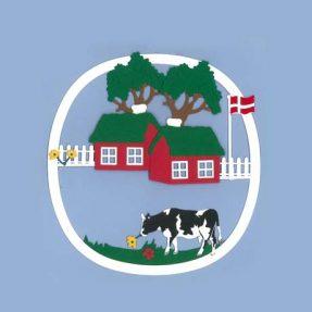"""Oda Wiedbrecht - Fensterbild """"Bauernhof mit Kuh"""""""