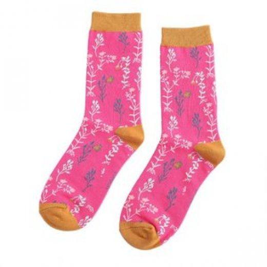 miss-sparrow-socken-bamboo-wild-flowers-hot-pink