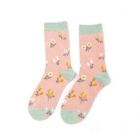 "Damen-Socken - Bamboo ""Dainty Floral, dusky pink"", Größe: 36 - 41"