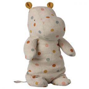 "Maileg - Safari Friends ""Medium hippo, Multi dot"""