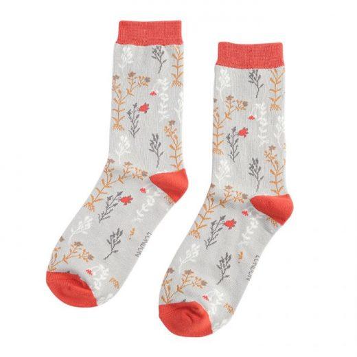 ladies_socks_-_wild_flowers_-sks194_silver